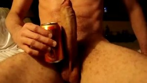 10.5 INCH UNCUT COCK STROKING AND CUM