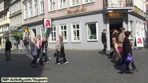 Damjana - Hot tattooed girl has fun in public