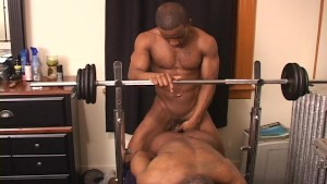 Watch part of the muscle building work-out