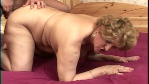 Mature Martha bags a hottie