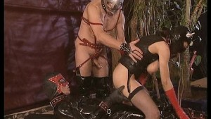 This Little Leather Pussy Cat Gets Pounded By Guys In Leather.