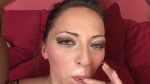 Milking thier cocks till they cum on her face