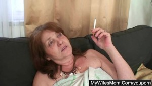 Mother in law gets her old hole drilled