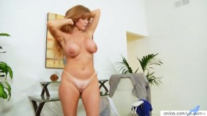 Sexy Busty Office Milf Toying