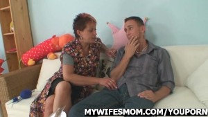 Cock-hungry mother in law seduces her son in law