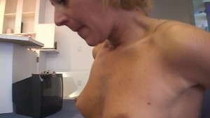 Pierced cock sucked and stroked off
