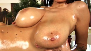 Dominno lubes up and plays with herself