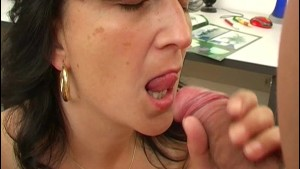 Horny older lady in the office - ANT Studio