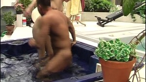 Small tit blonde banged in hot tub - Acheron