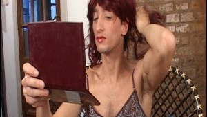 Wig on head, cock in hand - Latin-Hot