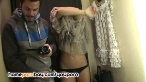 I filming my GF in store changing room