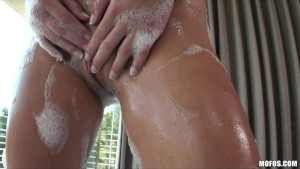 HOT BIG TIT BLONDE TEEN MASTURBATES WET PUSSY IN S