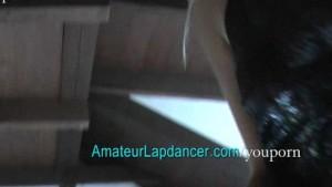Blonde with BIG boobs lapdancing