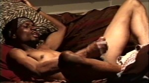 Thug hottie cumming hard