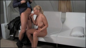 FakeAgent Blonde MILF goes all the way!