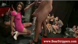 Cfnm party lady gives bj in public