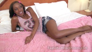 Petite Ebony Teen gets Black Pussy Banged Out