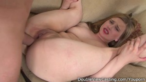 Cute chick from supermarket fill all of her love holes with a big cock.