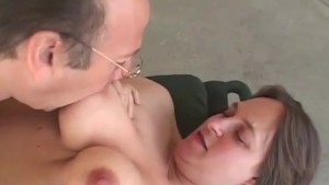 Watch her titties bounce as she is fucked after giving head