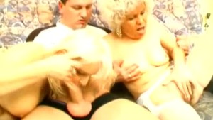 Two Grannies Share One Cock