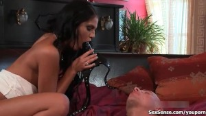 Defrancesca Gallardo gets her perfect cunt sucked hard