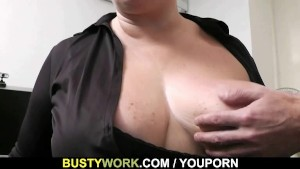 Interview leads to sex for this busty babe
