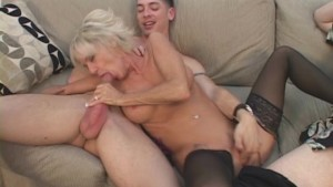 Older Hottie Fucks Hubby And Friend