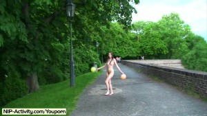 Hot Kattie Shows Her Hairy Pussy In Public