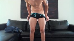 GayCastings Audition gone wrong boy moans as he tries to take...