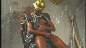 Jerking that black gladiator dick - Pacific Sun Entertainment