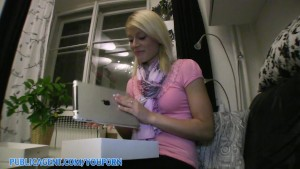 PublicAgent HD Blonde pays with her pussy for an iPad