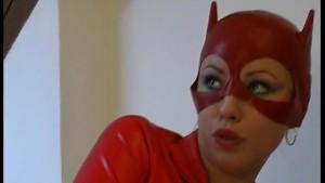 Red fetish Cat Natalie dildo fun