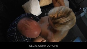 Young curious blonde relishes the Old french penis