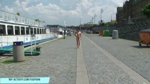 Sweet Czech Cutie Lucy Belle Naked On Public Streets