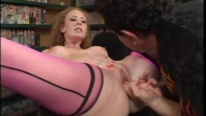 Audrey Hollander visited a porn video store and help herself - Coast to Coast