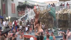 Fun Loving Girls Partying Naked at Pool Party Dante s Club Key West