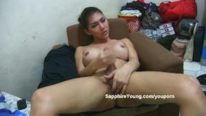 Sapphire Young in dark panties