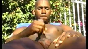 Muscular black dude masturbates by the pool - Pacific Sun Entertainment