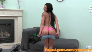 FakeAgent Brunette temptress loves doggy style