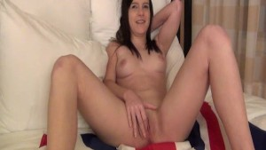 British American 18 Year Old Girl Masturbating for the First Time