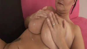 extreme big boobs oiled