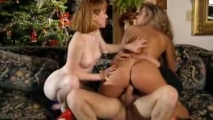 Deep anal in a threesome porn movie