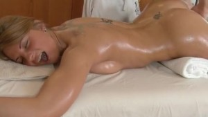 Blonde Fucked passionate masseur