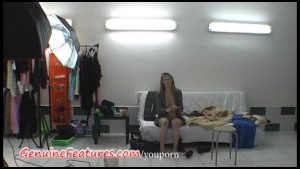 Super slim blonde in hot backstage video