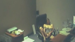 Horny secretary caught by a security camera