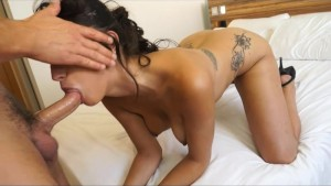 Sexy and Busty Latin girl rides a Big Cock inside her Pussy