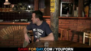 He seduces straight bartender into gay sex
