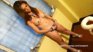 Sapphire Young stroking in the Hall