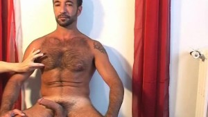 Full video: Kamel, a sexy 44 y.o sport arab guy get wanked his hard cock by a guy !
