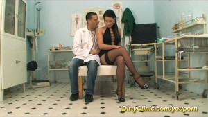 Brunette fucked by doctor